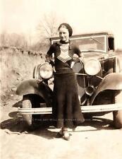 BONNIE AND CLYDE VINTAGE PHOTO BONNIE PARKER 1932 FORD V8 JOPLIN MO #20502