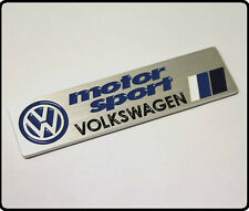 VW MOTORSPORT AUTO Badge Emblema Adesivo Decalcomania METALLO GOLF POLO GTI R32 R20 TDI 110