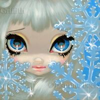 Fairy Face 135 Jasmine Becket-Griffith SIGNED 6x6 PRINT snowflake ice faery