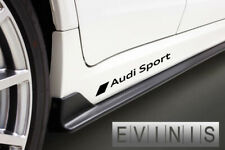 AUDI SPORT 2x Side Skirt Stickers Car Decals Graphic DEFAULT BLACK