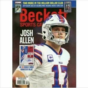 New February 2021 Beckett Sports Card Monthly Price Guide Magazine W/ Josh Allen