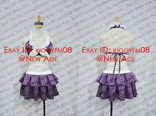 Fairy Tail Juvia Lockser Swimming Suit Cosplay Costume Outfit Bra Shorts Purple