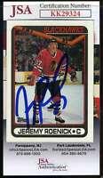 Jeremy Roenick JSA Coa Hand Signed 1990 Topps Autograph