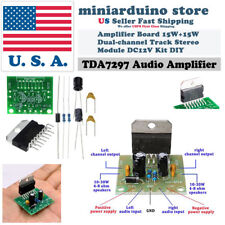TDA7297 Amplifier Board DIY 15W+15W DC 12V Dual-Channel Audio Stereo Module