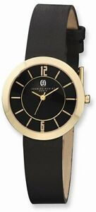 Charles Hubert IP-plated Stainless Steel Black Dial Quartz Watch
