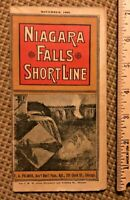RARE 1892 Chicago Detroit & NIAGARA FALLS SHORT LINE RAILROAD TIMETABLE, Map 32P