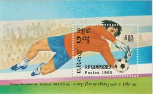 Cambodia 1985 Souvenir Sheet #559 World Cup Soccer, Mexico - MNH
