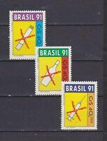 S19256) Brasilien Brazil 1991 MNH Neu Anti Drugs 3v
