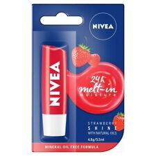 Nivea Lip Care Strawberry 24H-Melt-In 4.8g