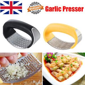 Stainless Steel Garlic Press Crusher Manual Rocking Mincer Squeezer Kitchen UK