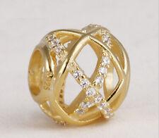 hot European  CZ Charm Beads Fit sterling 925 Necklace Bracelet Chain Jc5l