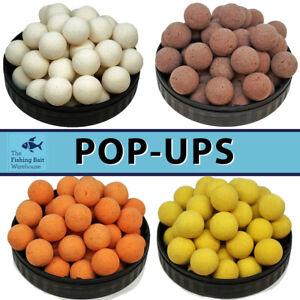 15mm Pop Ups for Carp Fishing 20pk | Coarse Fishing, Maple Cream, Fluro White