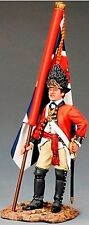 KING & COUNTRY BRITISH REVOLUTIONARY BR082 FUSILIER OFFICER KING'S FLAG MIB