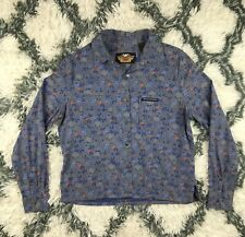 Harley Davidson Women's Push Button Down Shirt Floral Size Large