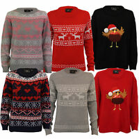 Ladies Xmas Jumper Brave Soul Womens Christmas Tree Novelty Robin Reindeer Pom