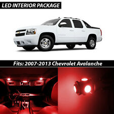 2007-2013 Chevrolet Avalanche Red Interior LED Lights Package Kit
