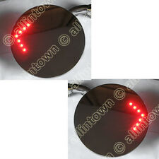 "4"" Peep Mirrors Convex 12V Red Led Turn Signals"