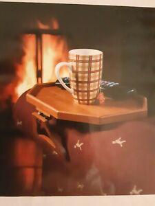 PLOW & HEARTH Sofa Couch Arm Clip on Table Plastic Armrest Tray coffee tea