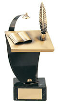 HANDMADE METAL WRITING LITERATURE SCHOOL TROPHY GIFT *FREE POSTAGE & ENGRAVING