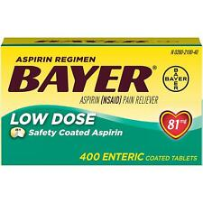 Bayer Low Dose Aspirin 81mg 400 Enteric Coated Tablets