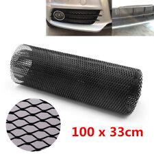 "Universal Black Metal Car Bumper Hood Grille Radiator Mesh Cover Gitter 40""x13"""