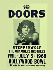 """The Doors / Steppenwolf Hollywood Bowl 16"""" x 12"""" Photo Repro Concert Poster"""