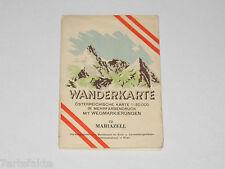 Wanderkarte Mariazell 72, Landkarte, Österreich, 1957