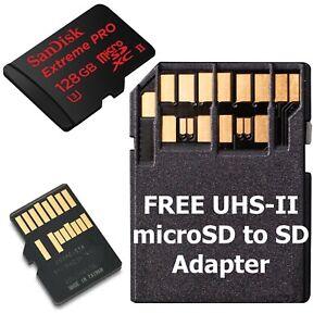 128GB SanDisk Extreme Pro MicroSD Memory Card Class 10 SDXC UHS-II U3 275Mb/s