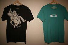 Mens AMES BROS + OAKLEY Cotton Graphic T-Shirt LOT OF 2! SMALLS  S