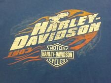Harley-Davidson 2XL White Mountain NH Live to Ride short sleeve t-shirt Blue