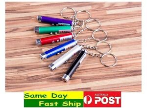 2 in 1 Laser Pointer point LED UV Light w/ Key Ring, 3 Free Spare batteries AU
