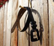 "EUC True Vintage Belt Genuine Leather Black Western Classic Simple Size SM 32"""
