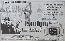 PUBLICITE PERICAUD RECEPTEUR DE TSF RADIO DAVENTRY DE 1926 FRENCH AD ART DECO