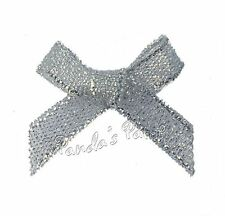 Lurex Ribbon Bows 3mm, 7mm or 15mm - Choose Colour, Width and Pack Size Free P&P