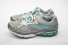 Saucony Hurricane 14 Women's Size 8 Running Shoes White/Silver/Blue