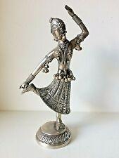 ANTIQUE INDIAN SOLID SILVER DANCER STATUE