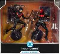 DC Multiverse ~ NIGHTWING vs. RED HOOD DELUXE FIGURE SET ~ McFarlane Toys