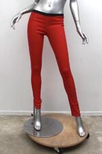 d547b7f981ef8b HELMUT LANG Womens Red Coated Stretch Denim Skinny Jean Leggings Pants 26