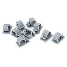 10 Stueck Grau Kunststoff selbstklebend Drahtseil Kabelc Greifer Schellen Y3X1
