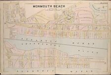 1889 MONMOUTH BEACH, NEW JERSEY & CASINO, GALILEE STATION, COPY PLAT ATLAS MAP