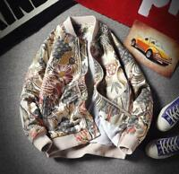 New Fashion Mens Slim Embroidered Printed Baseball Jacket Cotton Casual Hip Hop