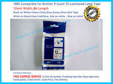 Brother TZ-231 P-Touch Compatible Black on White Puty Label Tape 12mm 8m TZe-231