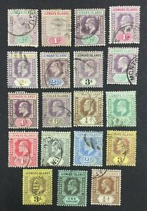 MOMEN: LEEWARD ISLANDS 1890-1922 USED £90 LOT #1639