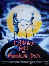L'ETRANGE NOEL DE MONSIEUR JACK Affiche Cinéma 53x40 Movie Poster TIM BURTON
