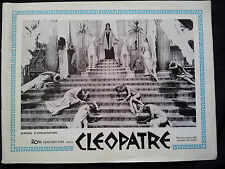 Dossier de presse DP Cinéma film 1963 Cléopâtre Elisabeth Taylor Cleopatra RARE