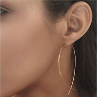 Simple Gold or Silver colour thread through Fish shape earrings Hypoallergenic