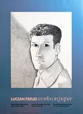 Lucian Freud: Works on Paper, 1989.  Rare, Color Offset, Exhibition Poster.