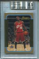 2003 Bowman Basketball GOLD 123 Lebron James Rookie Card Graded BGS Nm MINT+ 8.5