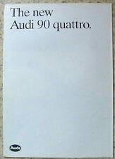 AUDI 90 QUATTRO Car Sales Brochure Sept 1984 #499/1190.14.29