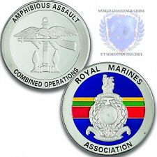 Royal Marines Association Silver Challenge Coin